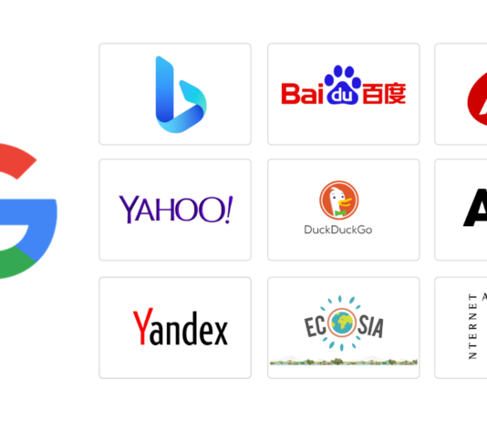 Top search engines-oct 2020